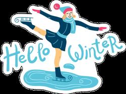 Hello Winter Bundled Skater Sticker