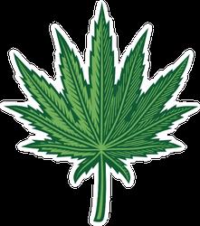 Hemp Leaf Sticker