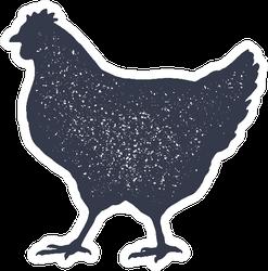 Hen, Chicken Vintage Logo Sticker