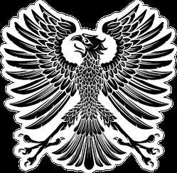 Heraldic Style Eagle Sticker