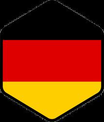 Hexagon German Flag Sticker