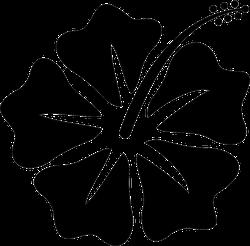 Hibiscus Flower Vector Logo Sticker