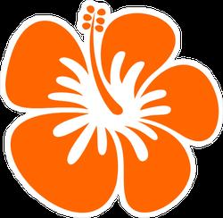 Hibiscus Orange Icon Sticker