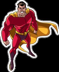 High Angle Superhero Standing Sticker