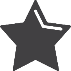 Highlighted Star Sticker