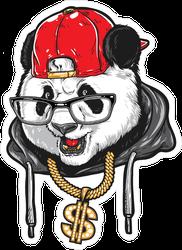 Hip Hop Panda Sticker