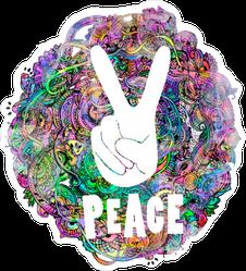 Hippie Ornamental Peace Sticker