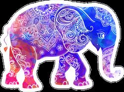 Hippie Style Elephant Sticker