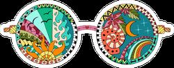 Hippie Sun Glasses Sticker