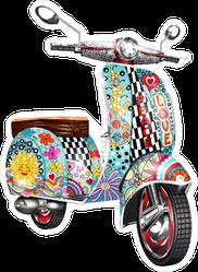 Hippie Zentangle Style Scooter Sticker