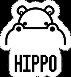 Hippo Head Lettering Sticker