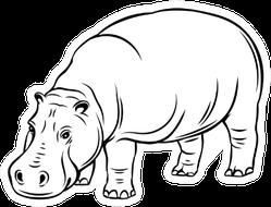 Hippopotamus Animal Icon Sticker
