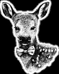 Hipster Baby Deer Sticker
