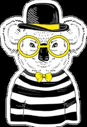 Hipster Koala Sticker