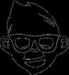 Hipster Monkey Sticker