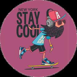 Hipster, Skater Design Sticker