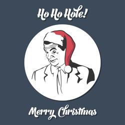 Ho Ho Hole Christmas Meme Sticker