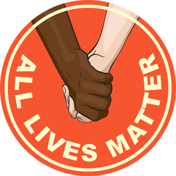 Holding Hands All Lives Matter Circle Sticker