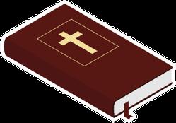 Holy Bible Isolated On White Illustration Sticker