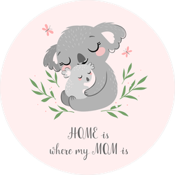 Home Is Where My Mom Is Koala Sticker