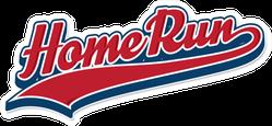 Home Run Baseball Font Sticker