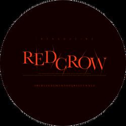 Horror Scary Movie Alphabet Font Red Crow Sticker