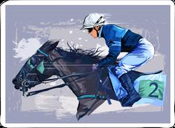 Horse And Jockey Sticker