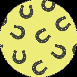 Horseshoe Pattern In Green Sticker