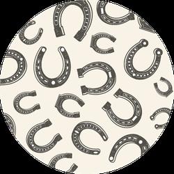 Horseshoes Seamless Pattern Sticker