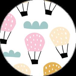 Hot Air Ballon In The Sky Sticker