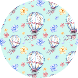 Hot Air Ballon With Flowers Sticker