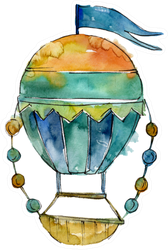 Hot Air Balloon Background Sticker