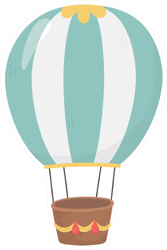Hot Air Balloon Design Sticker