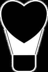 Hot Air Balloon Icon Heart Sticker