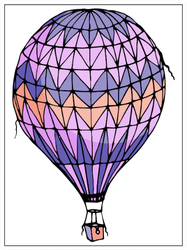 Hot Air Balloon Illustration Sticker