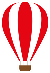 Hot Air Balloon Striped Sticker