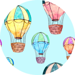 Hot Air Balloons In Blue Sky Sticker