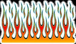 Hotrod Flames Fire Sticker
