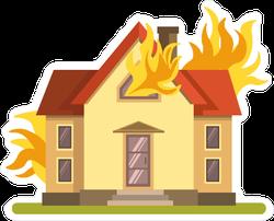 House on Fire Sticker