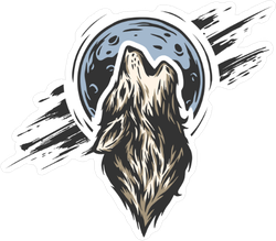 Howl at the Moon Wolf Sticker