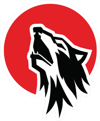 Howling Wolf Mascot Sticker