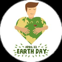 Hug Earth Sticker