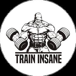 Huge Bodybuilder Train Insane Sticker