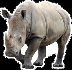 Huge Rhino Isolated Sticker