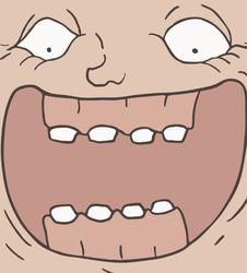 Huge Smile Troll Face Meme Sticker