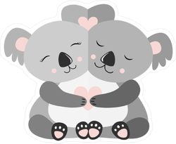 Hugging Koalas Sticker