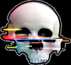 Human Skull Glitch Sticker