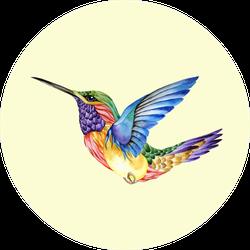 Hummingbird Tattoo Watercolor Painting Sticker