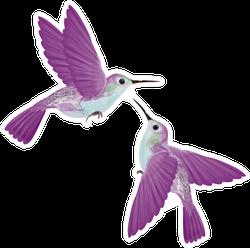 Hummingbirds Hovering Isolated Illustration Sticker