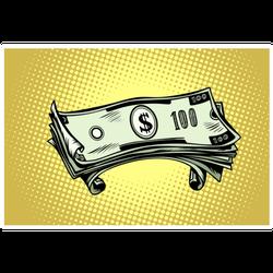 Hundred Dollar Bills Sticker